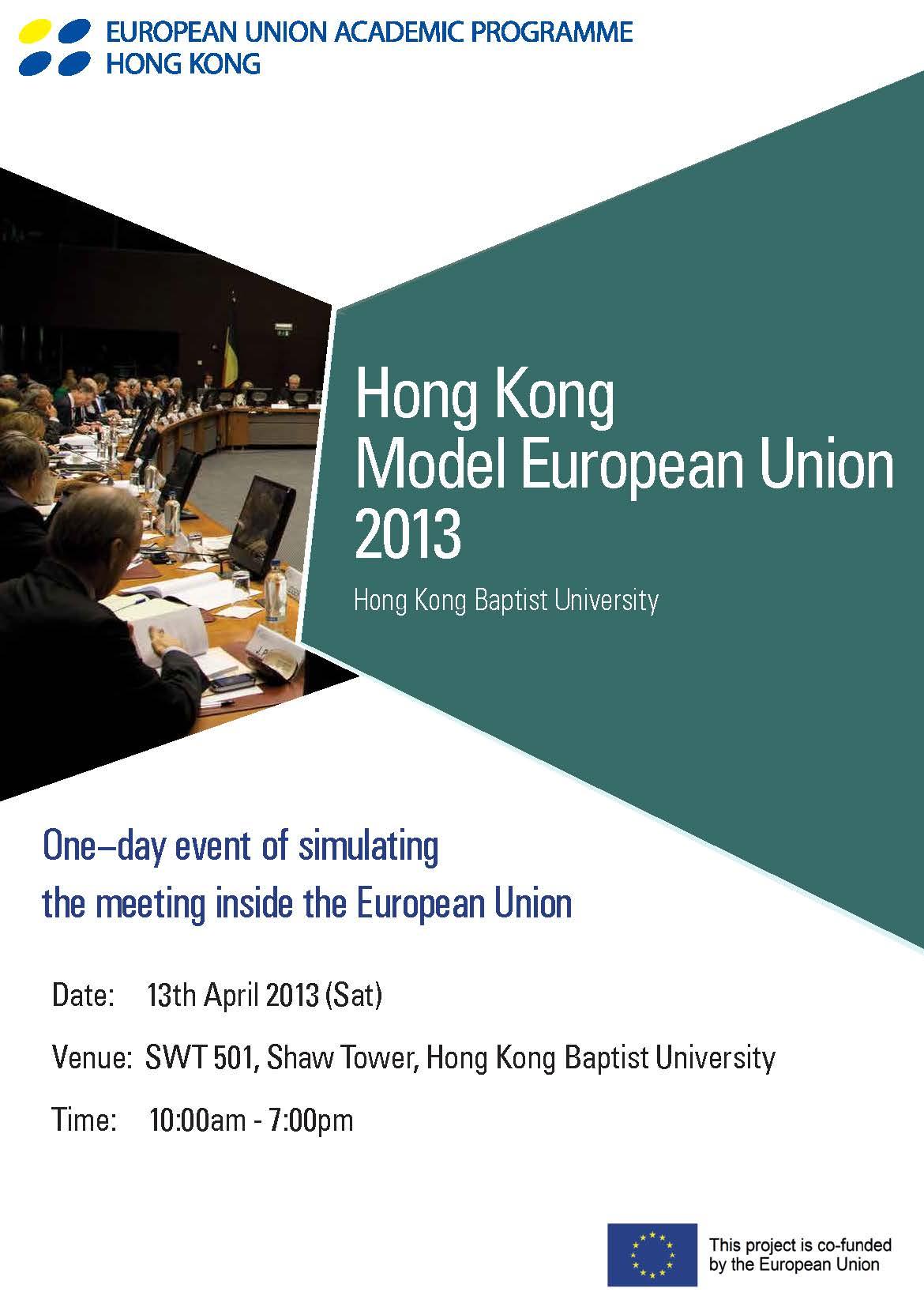 Hong Kong Model European Union 2013