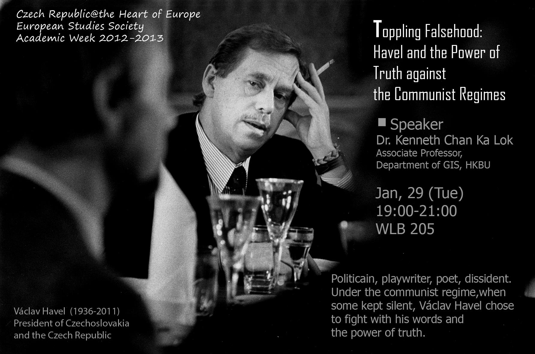 """Toppling Falsehood: Havel and the Power of Truth against the Communist Regimes"""