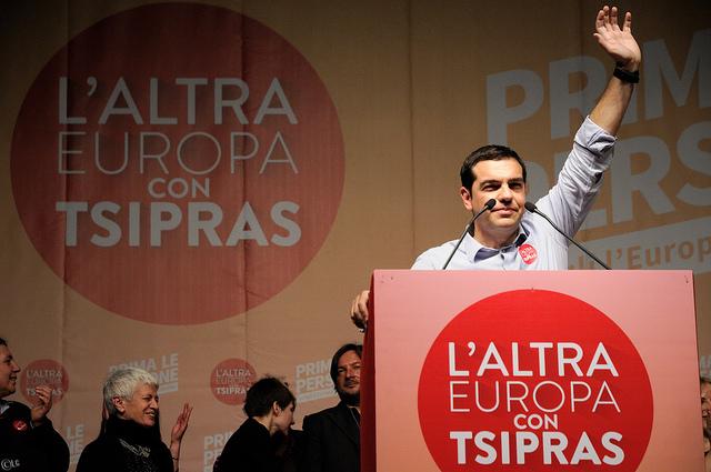 Alexis Tsipras @ Piazza Maggiore Flickr: lorenzogdnz/