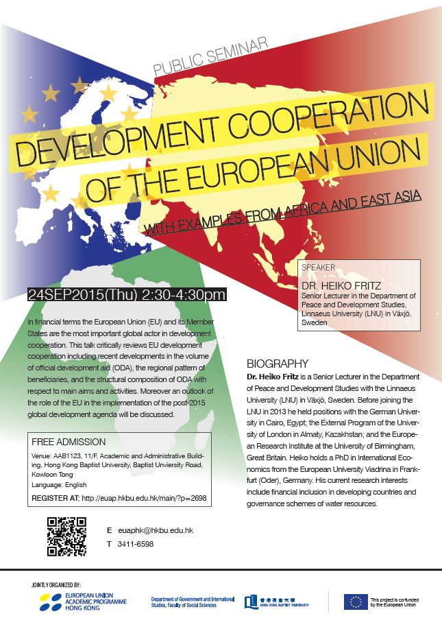 Development Cooperation of the European Union - with examples from Africa and East Asia