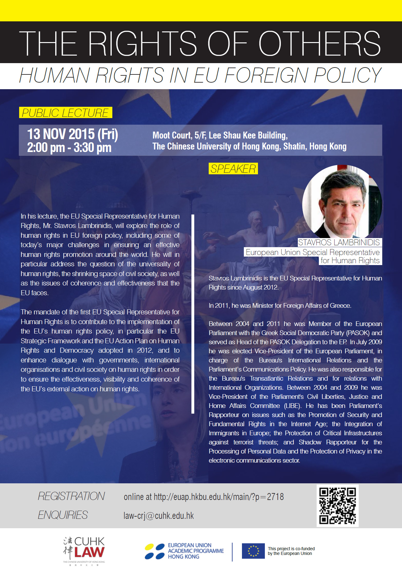 Public Lecture ''The Rights of Others  – Human Rights in EU Foreign Policy''