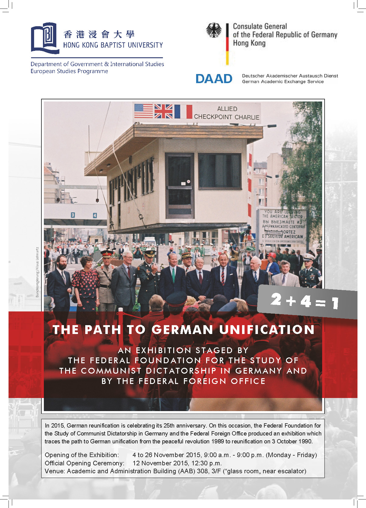 "Exhibition ""The Path to German Unification"""