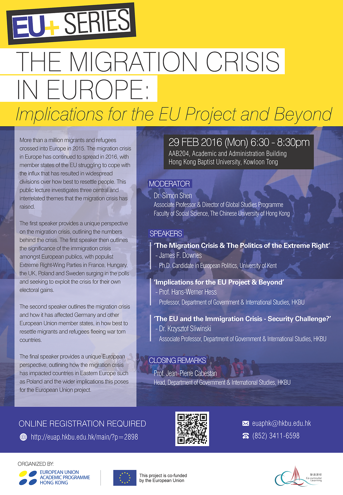 The Migration Crisis in Europe: Implications For The EU Project and Beyond