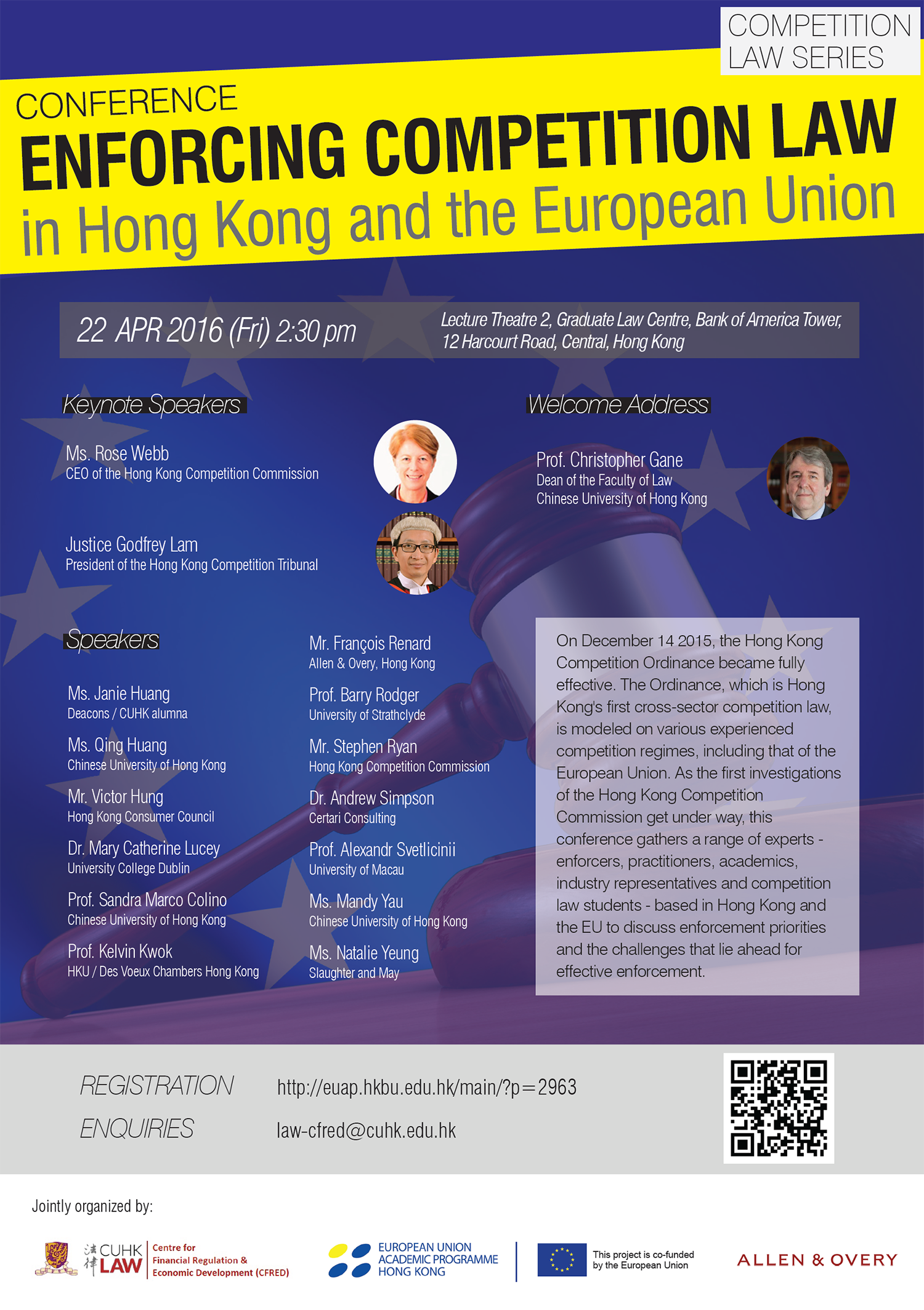"Conference ""Enforcing Competition Law in Hong Kong and the European Union"""