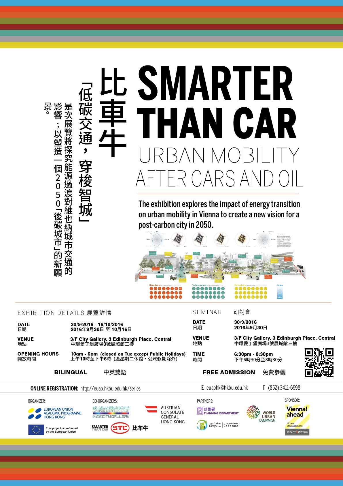 [SEMINAR 研討會] Hong Kong - Vienna Dialogue: Smarter Than Car - Urban Mobility After Cars and Oil 香港 – 維也納對話:比車牛 – 低碳交通.穿梭智城