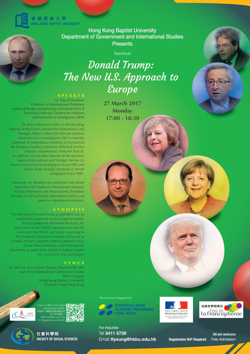 "Seminar ""Donald Trump: The New U.S. Approach to Europe"""