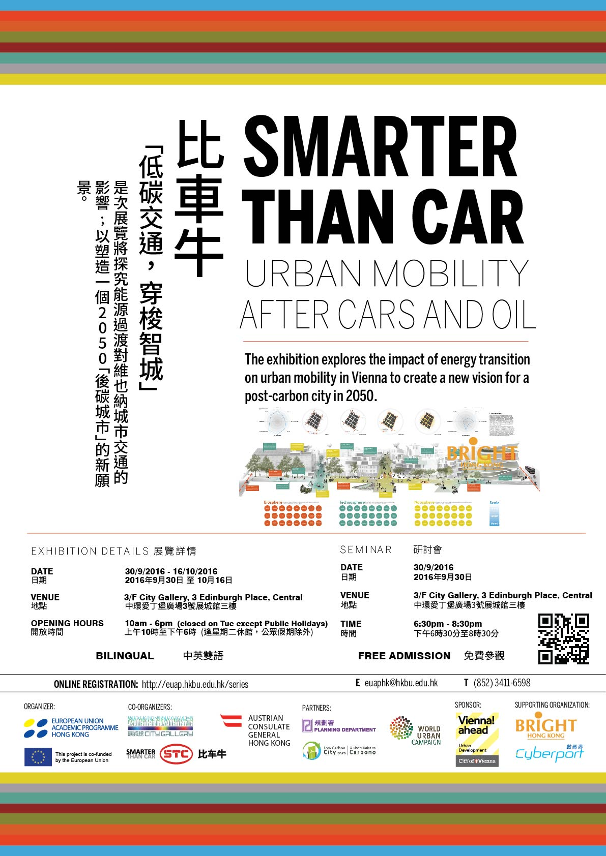 [EXHIBITION 展覽]Hong Kong - Vienna Dialogue: Smarter Than Car - Urban Mobility After Cars and Oil 香港 - 維也納對話:比車牛 - 低碳交通.穿梭智城