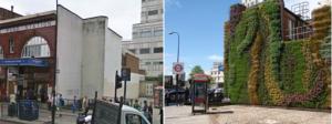 倫敦埃奇威爾路(Edgware Road)地下鐵路站綠化前後。Source: Transport for London