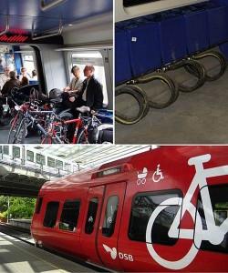 單車專用車廂/ Collage of the s-train bicycle system/ European Cyclists' Federation@Wiki/ CC BY-SA