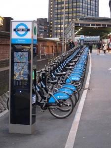 Source: Waterloo Station: Cycle Hire Mega Station/ Jack 999@Flickr/ CC-NC-SA