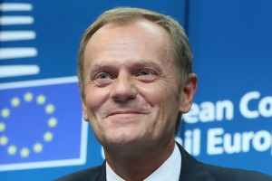 候任歐洲理事會主席圖斯克 (Donald Tusk)  ; Source: European Pressphoto Agency