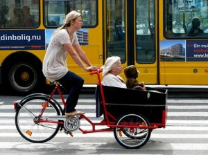 cargo bike with child