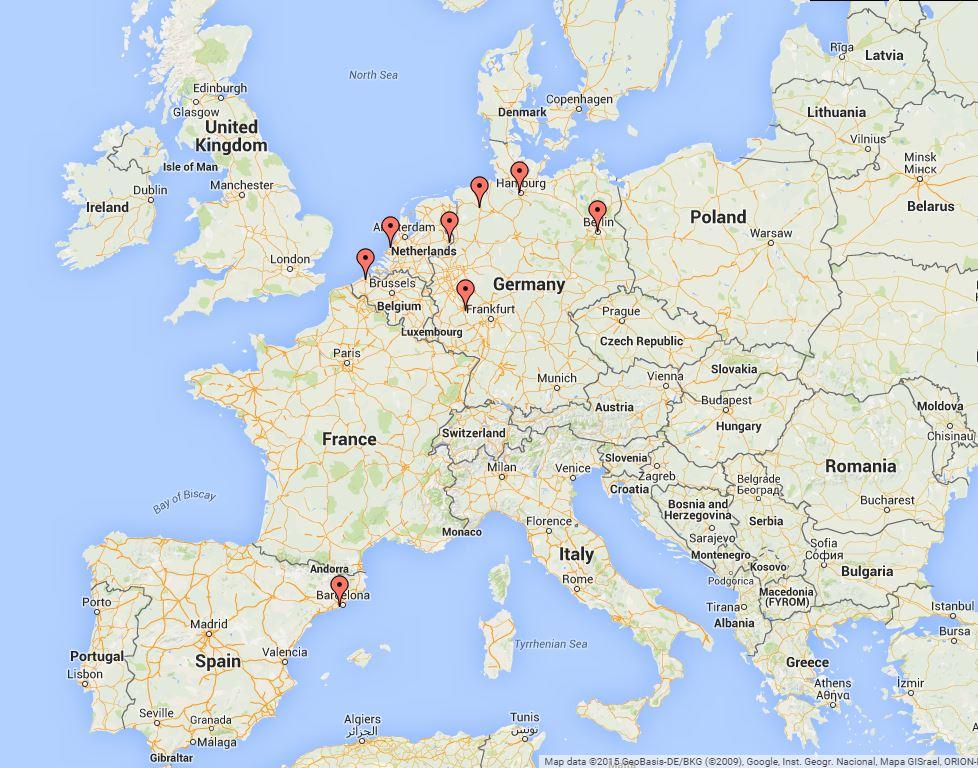Participating Schools Map